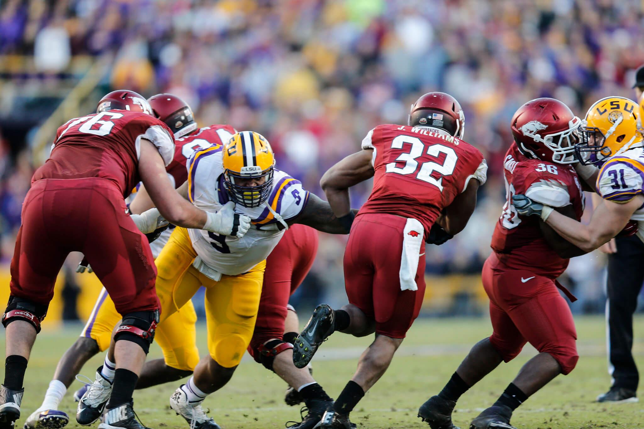 LSU vs Arkansas Golden Boot Trophy football game