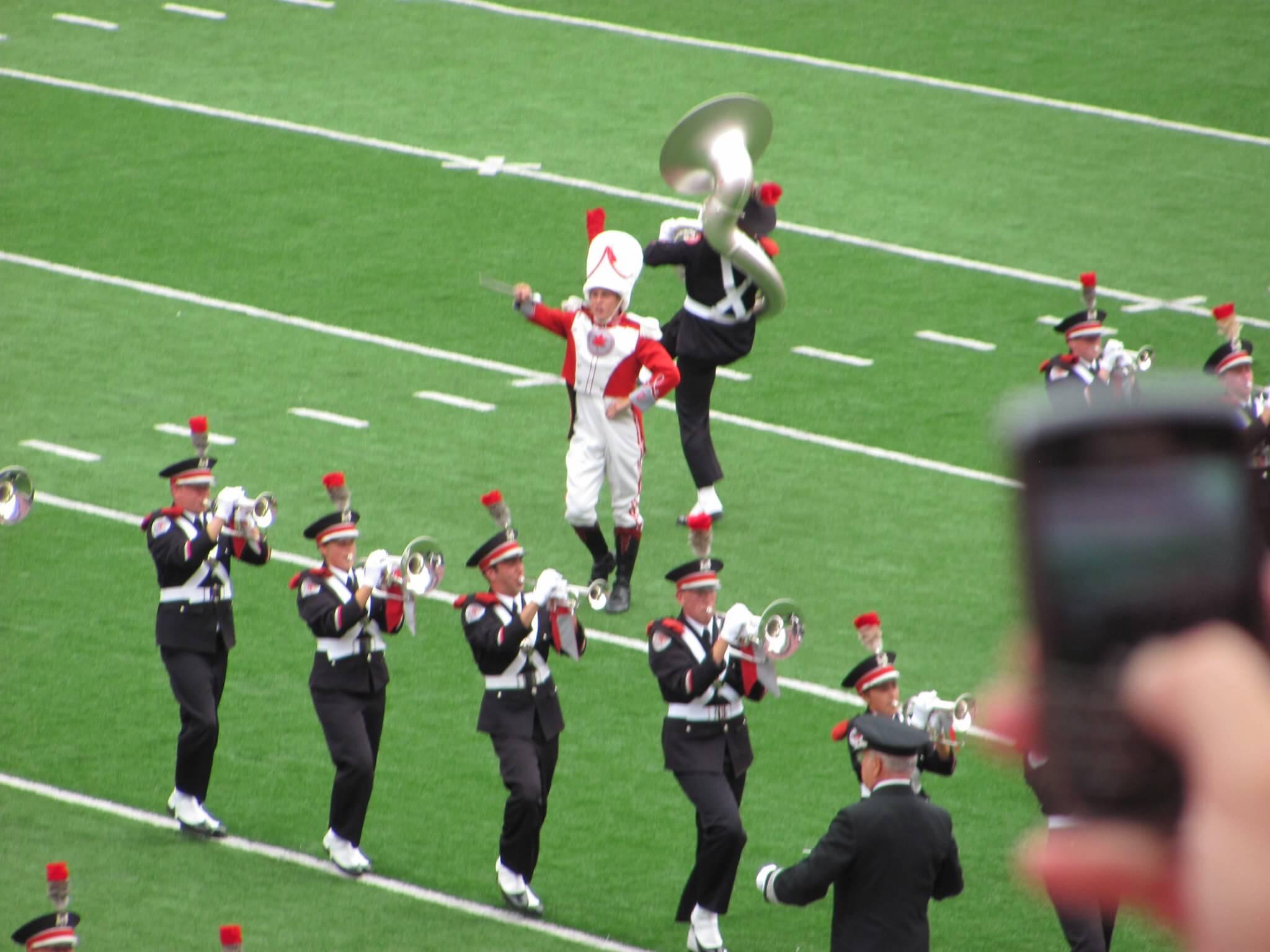 Ohio State Marching Band Dotting the i