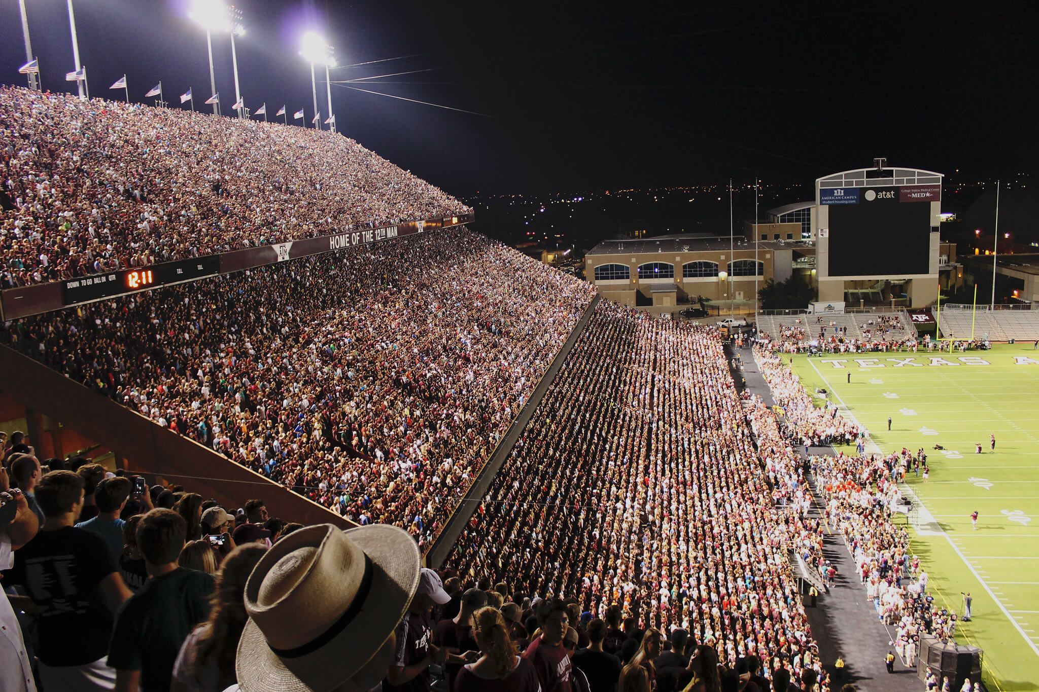 Texas AMs Midnight Yell tradition
