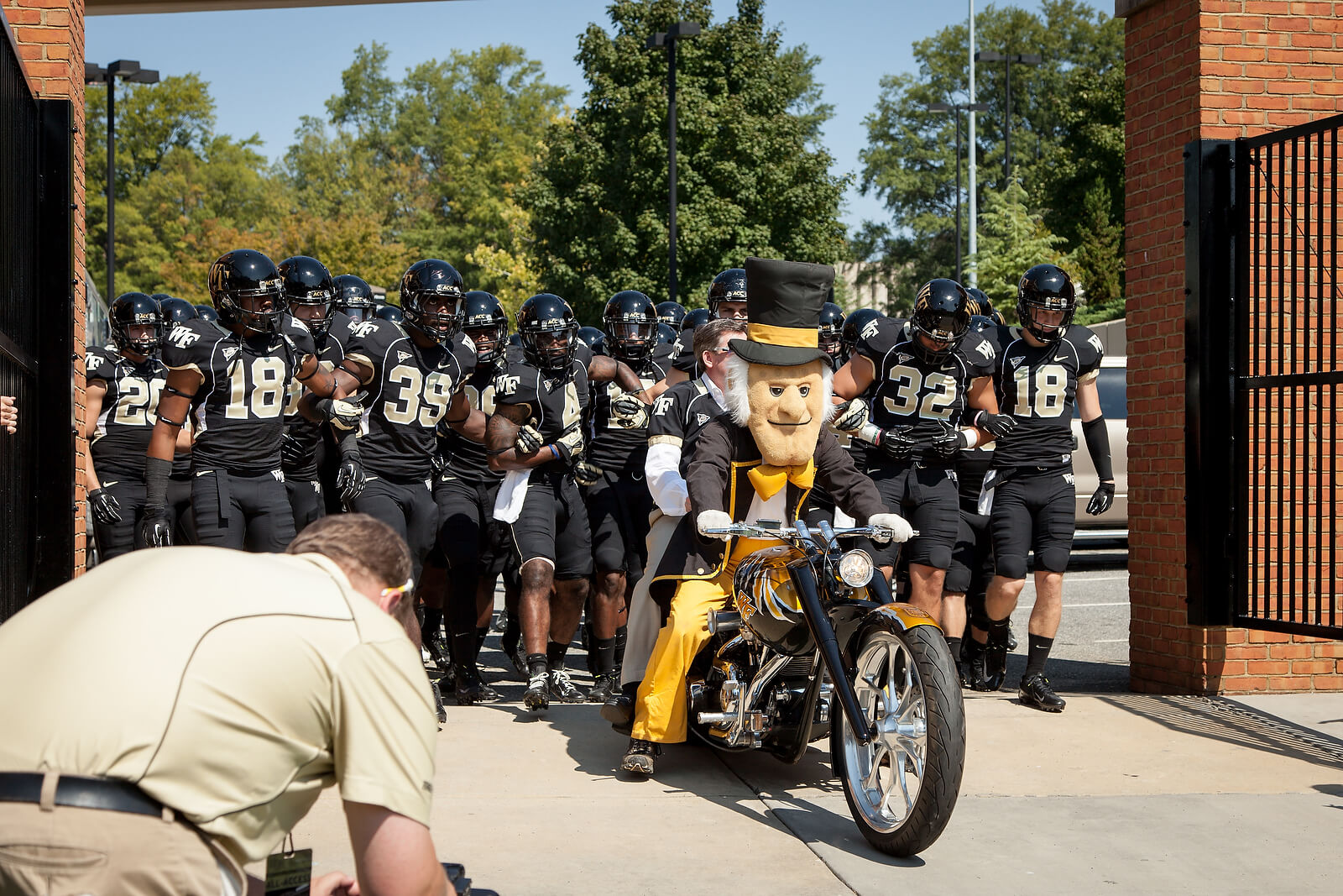 Wake Forest Demon Deacons Open The Gate rivalry