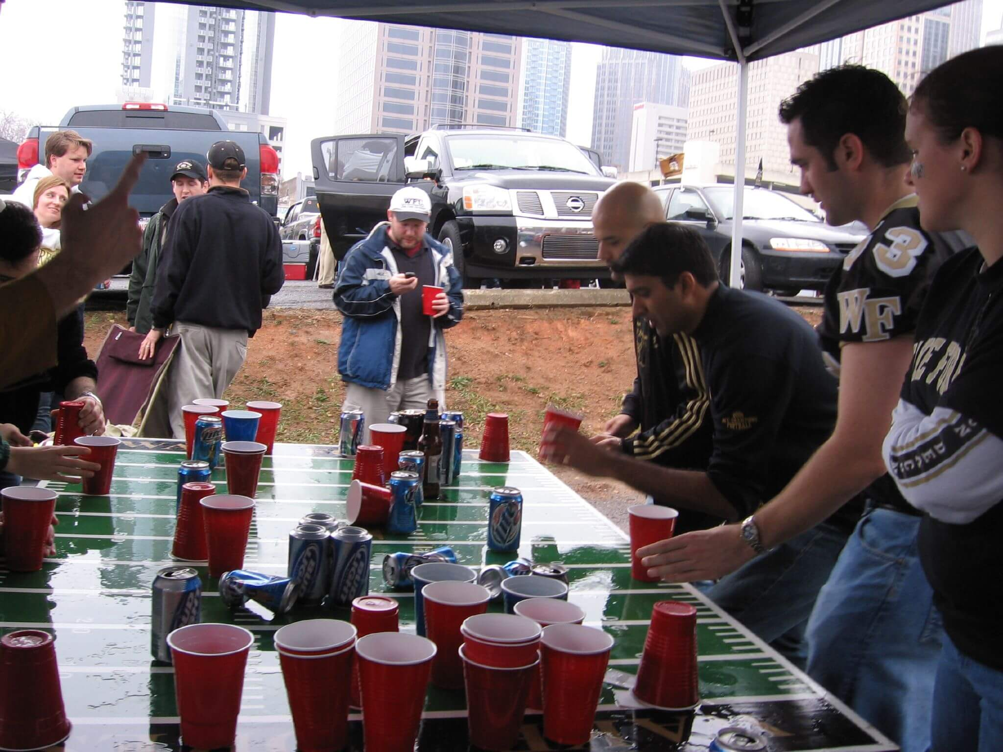 Flip Cup tailgate game