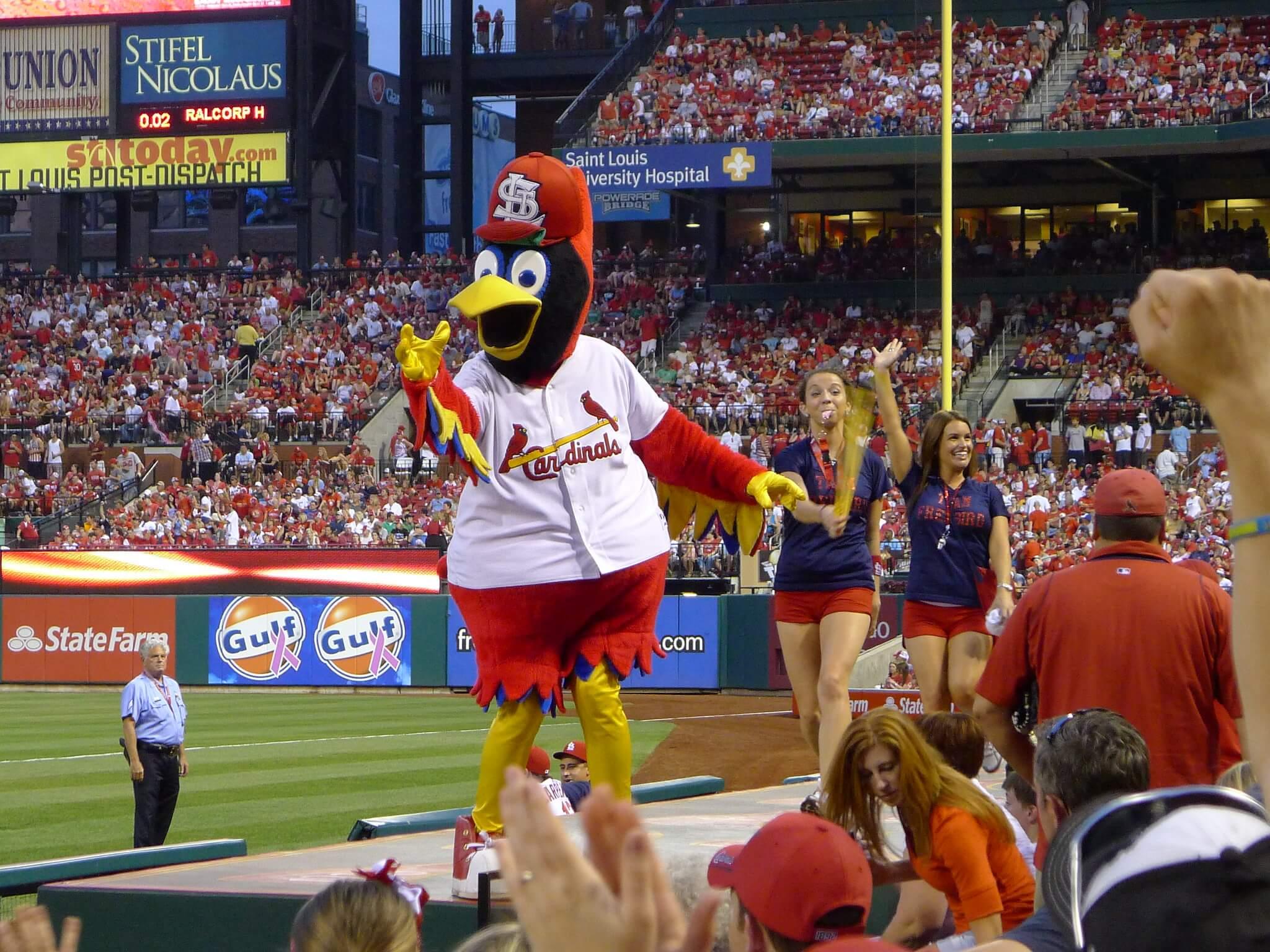 Fredbird St Louis Cardinals mascot