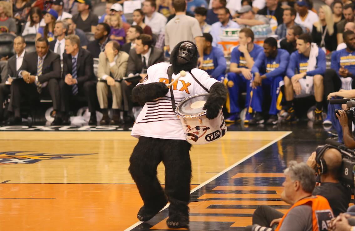 Suns Gorilla Phoenix Suns mascot