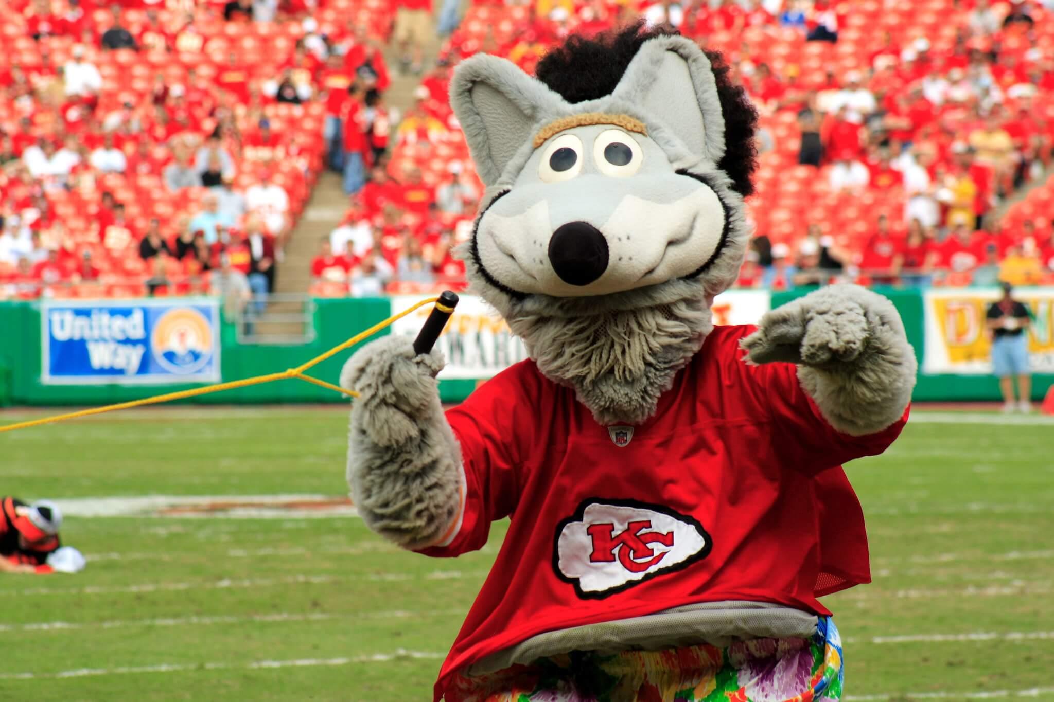 KC Wolf KC Chiefs mascot
