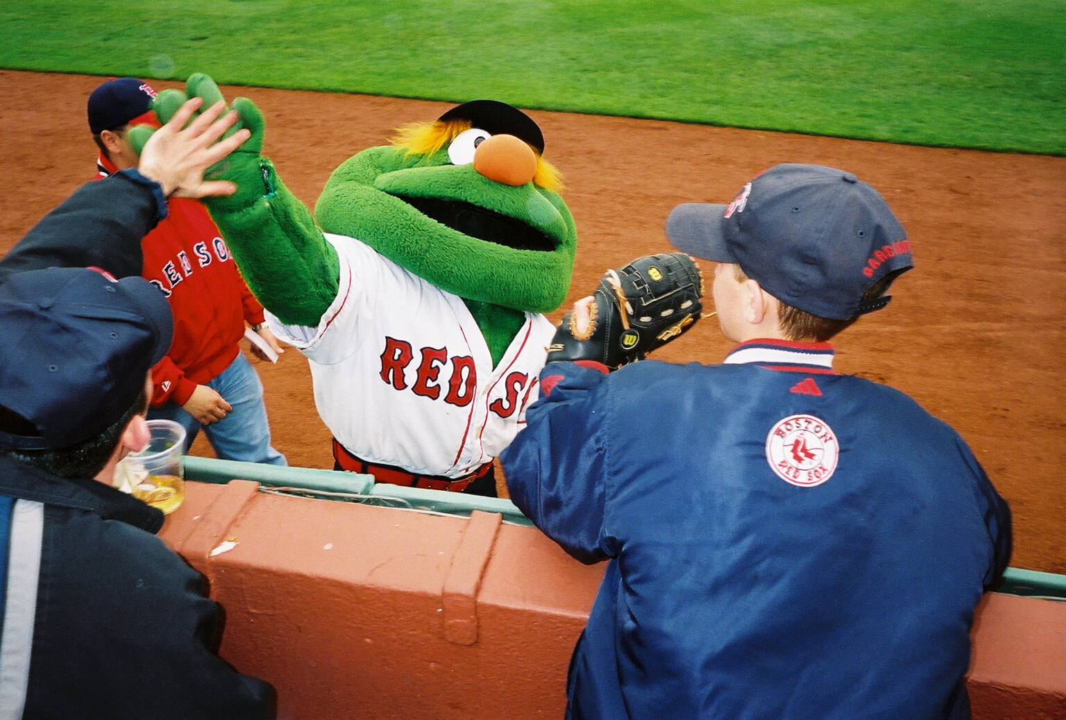 Wally the Green Monster Boston Red Sox mascot