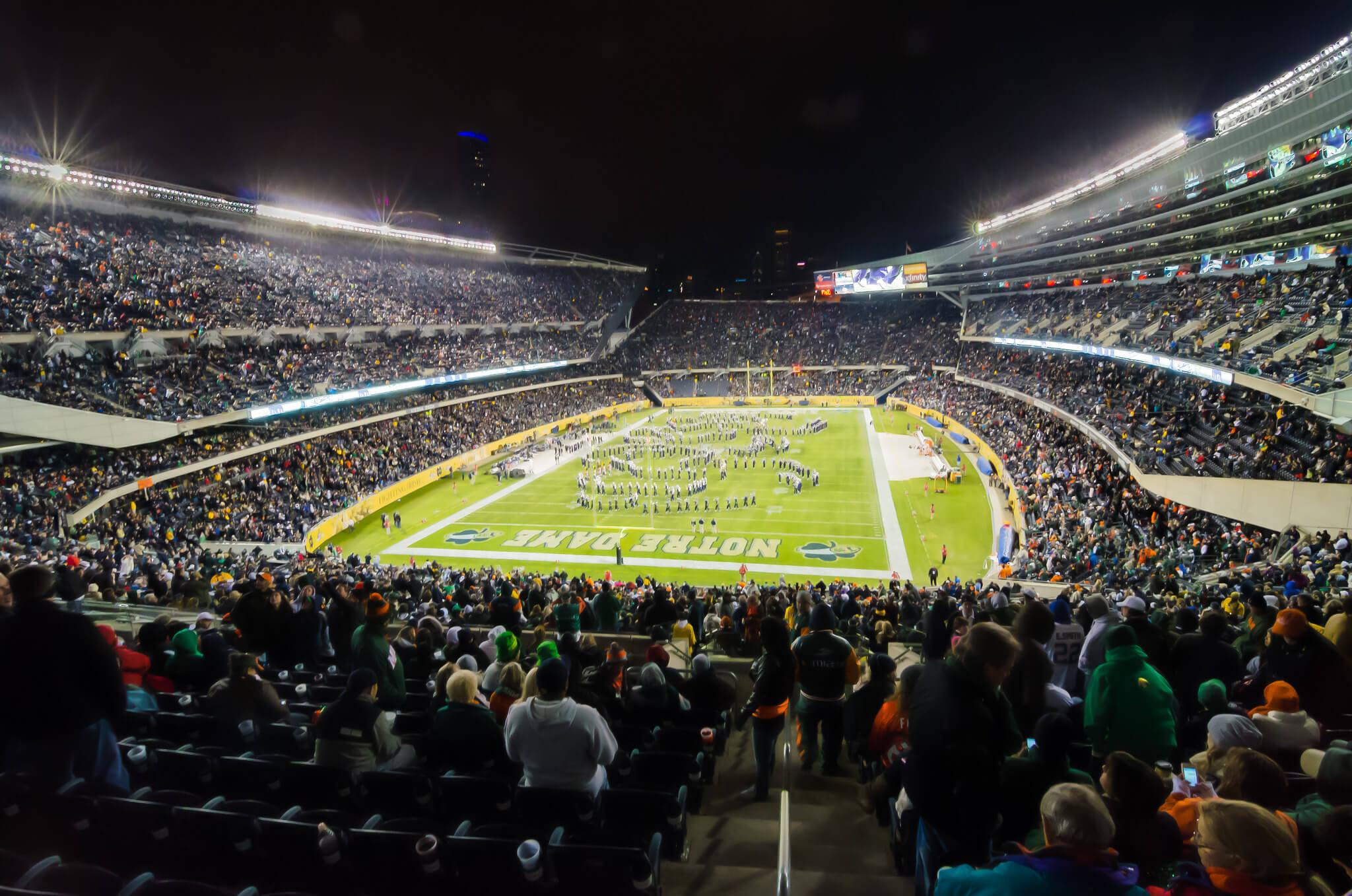 Notre Dame Stadium football game