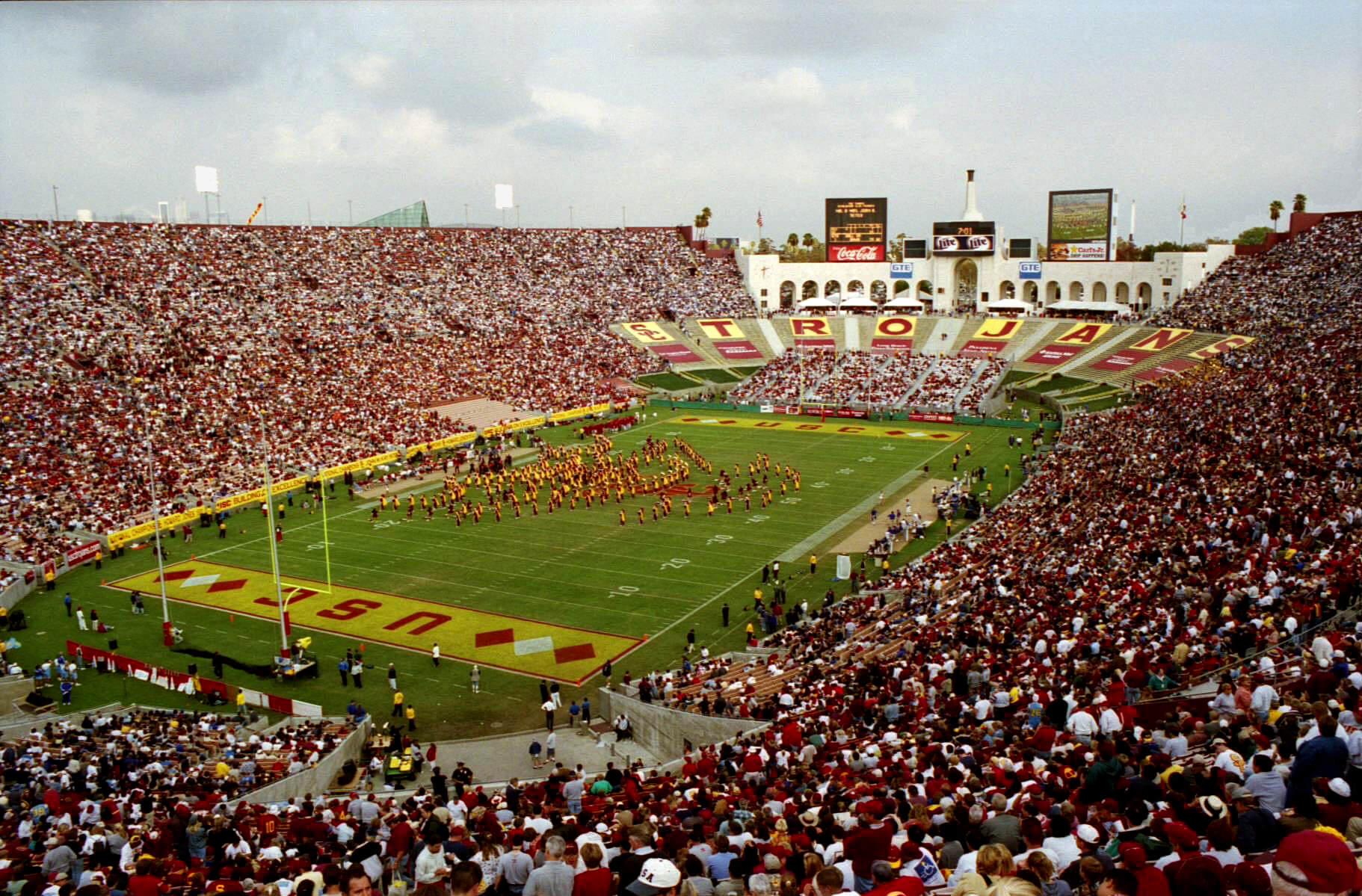 Los Angeles Memorial Coliseum football game