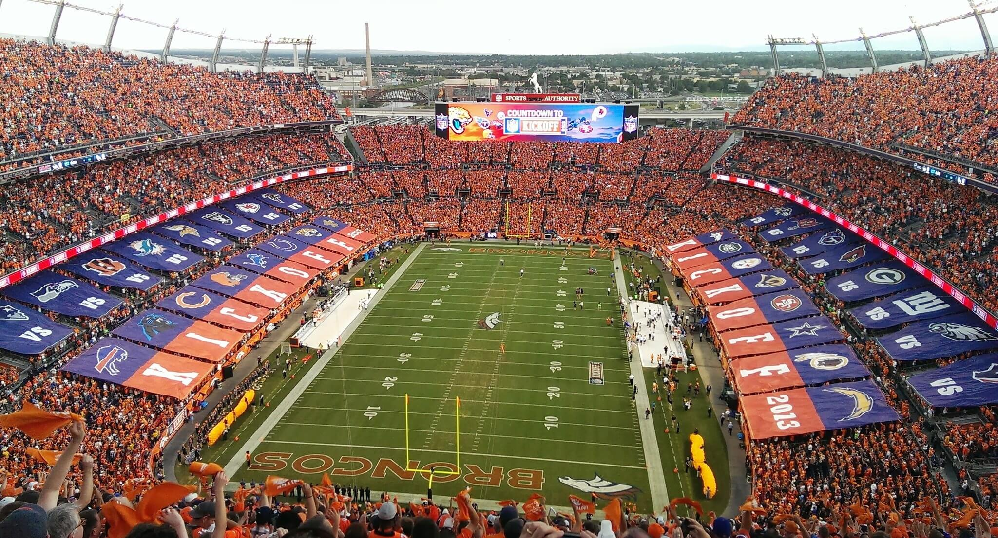Empower Field at Mile High football game