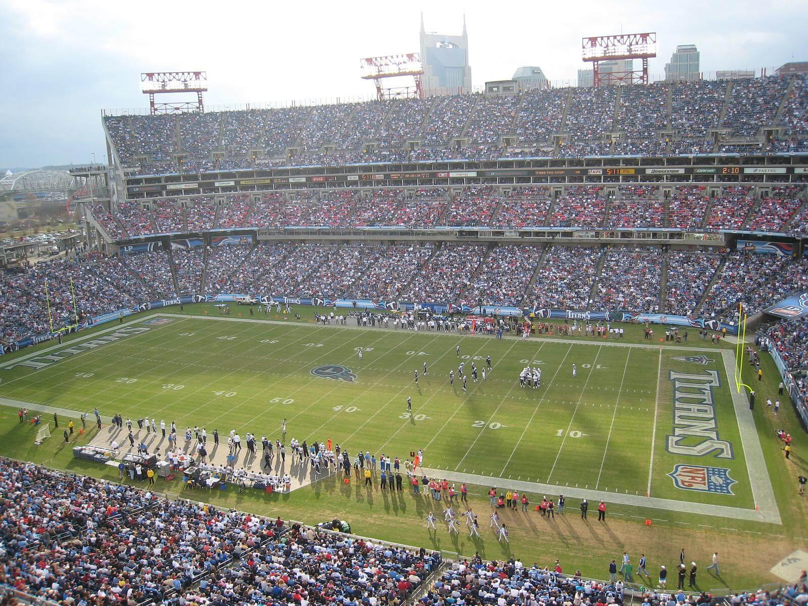 Nissan Stadium football game