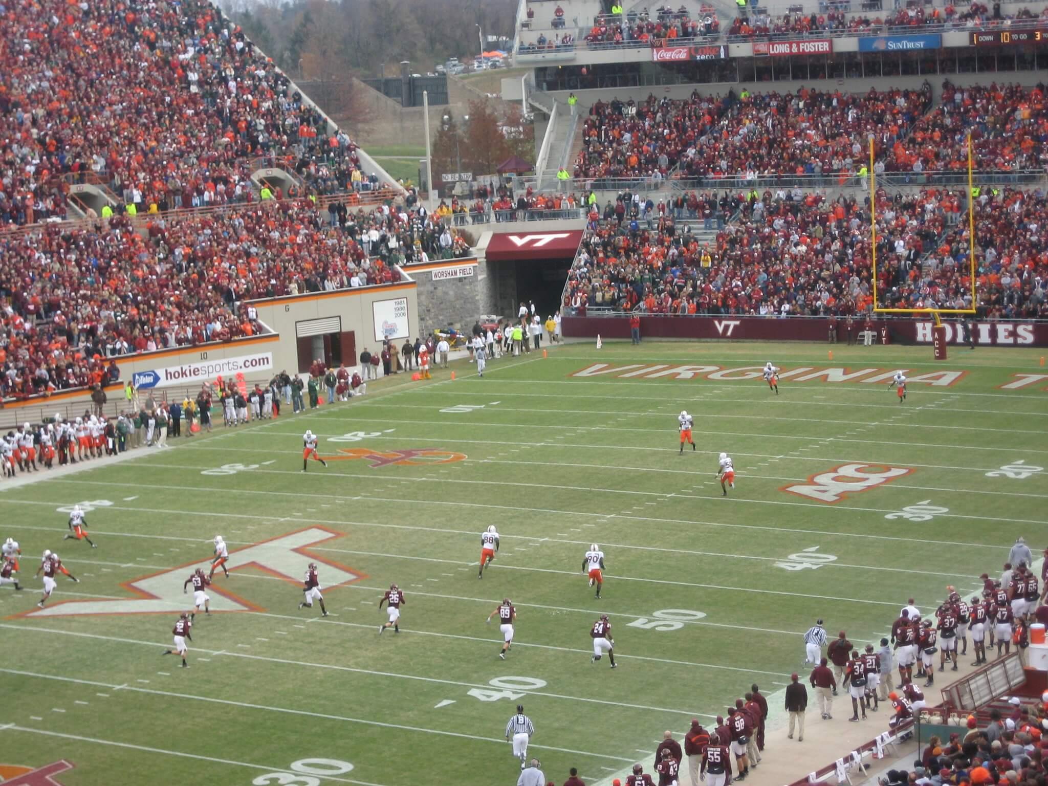 Lane Stadium football game