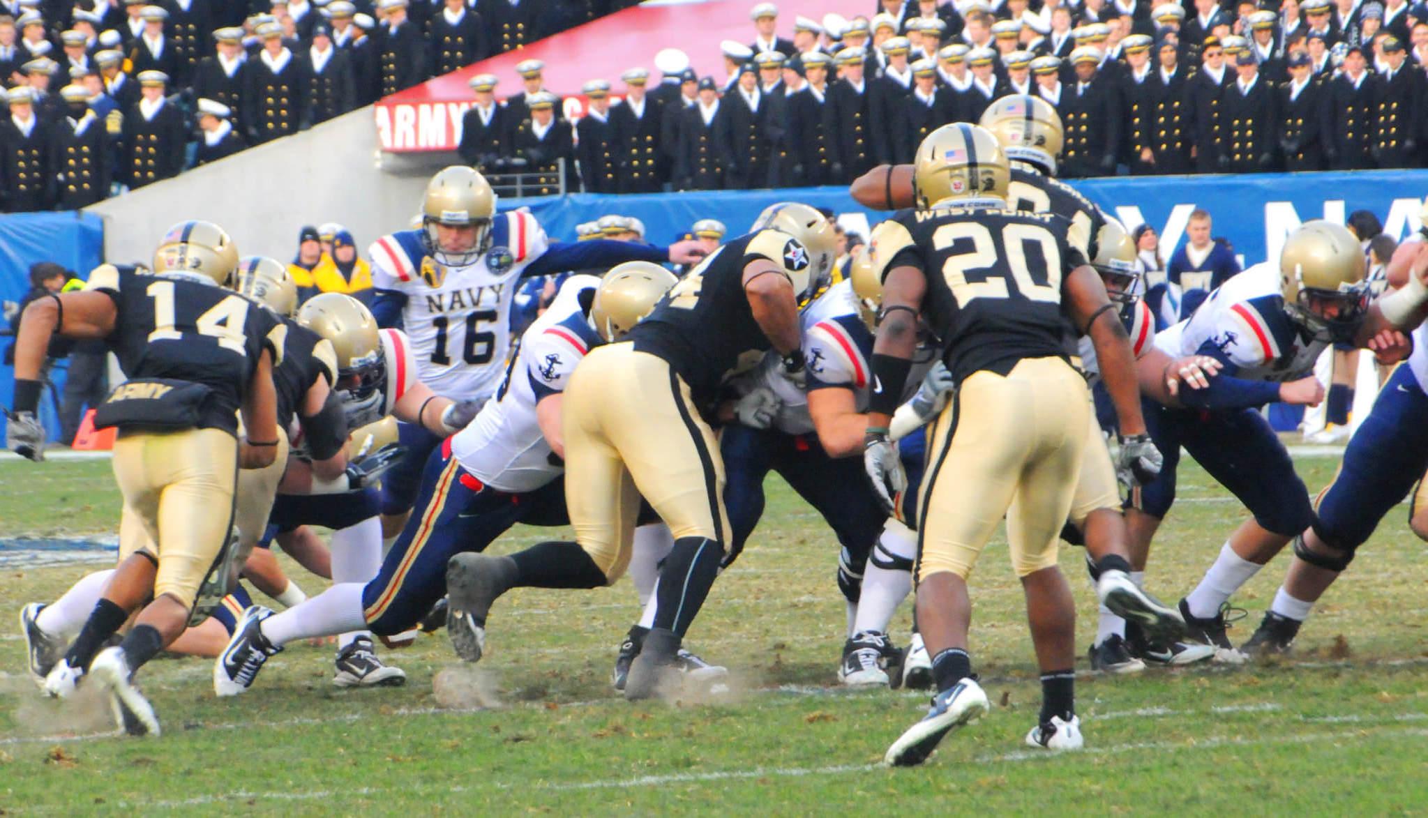 Army vs Navy NCAAF football rivalry
