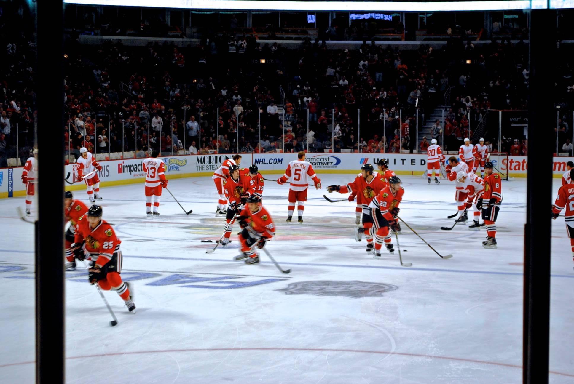 Detroit Red Wings vs Chicago Blackhawks NHL hockey rivalry