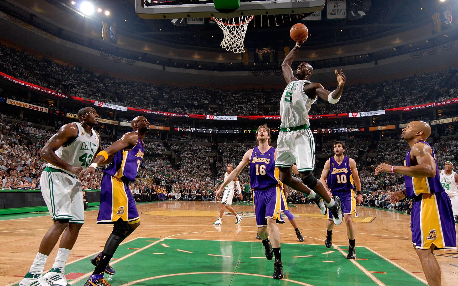 LA Lakers vs Boston Celtics NBA basketball