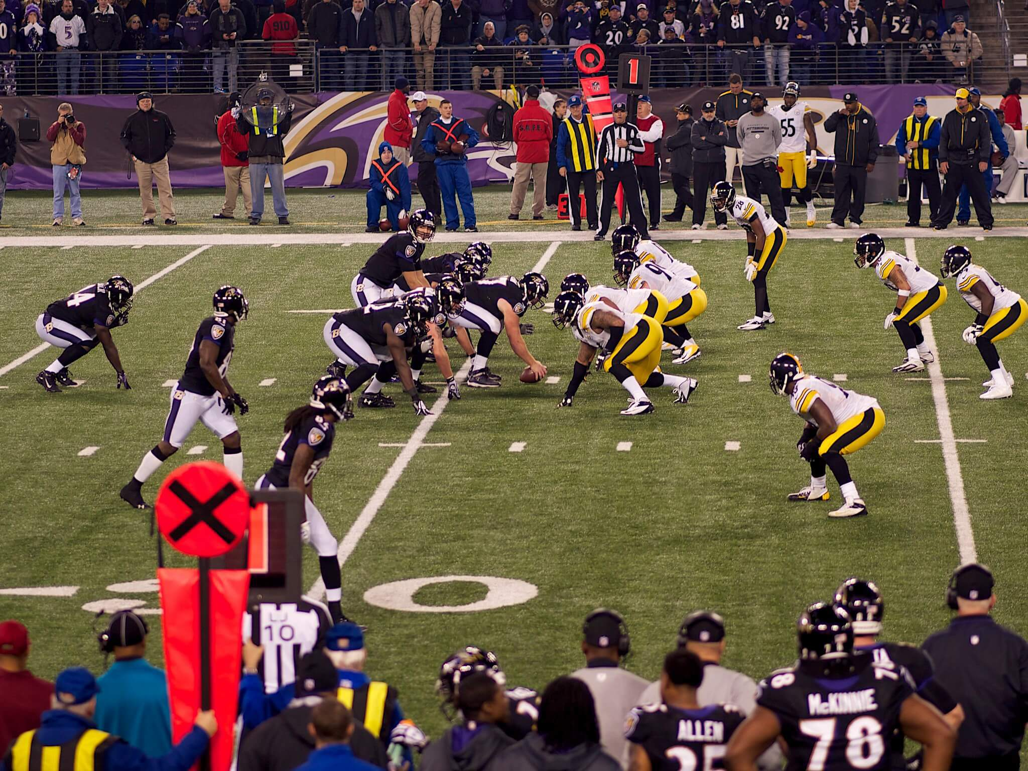 Pittsburgh Steelers vs Baltimore Ravens NFL football rivalry
