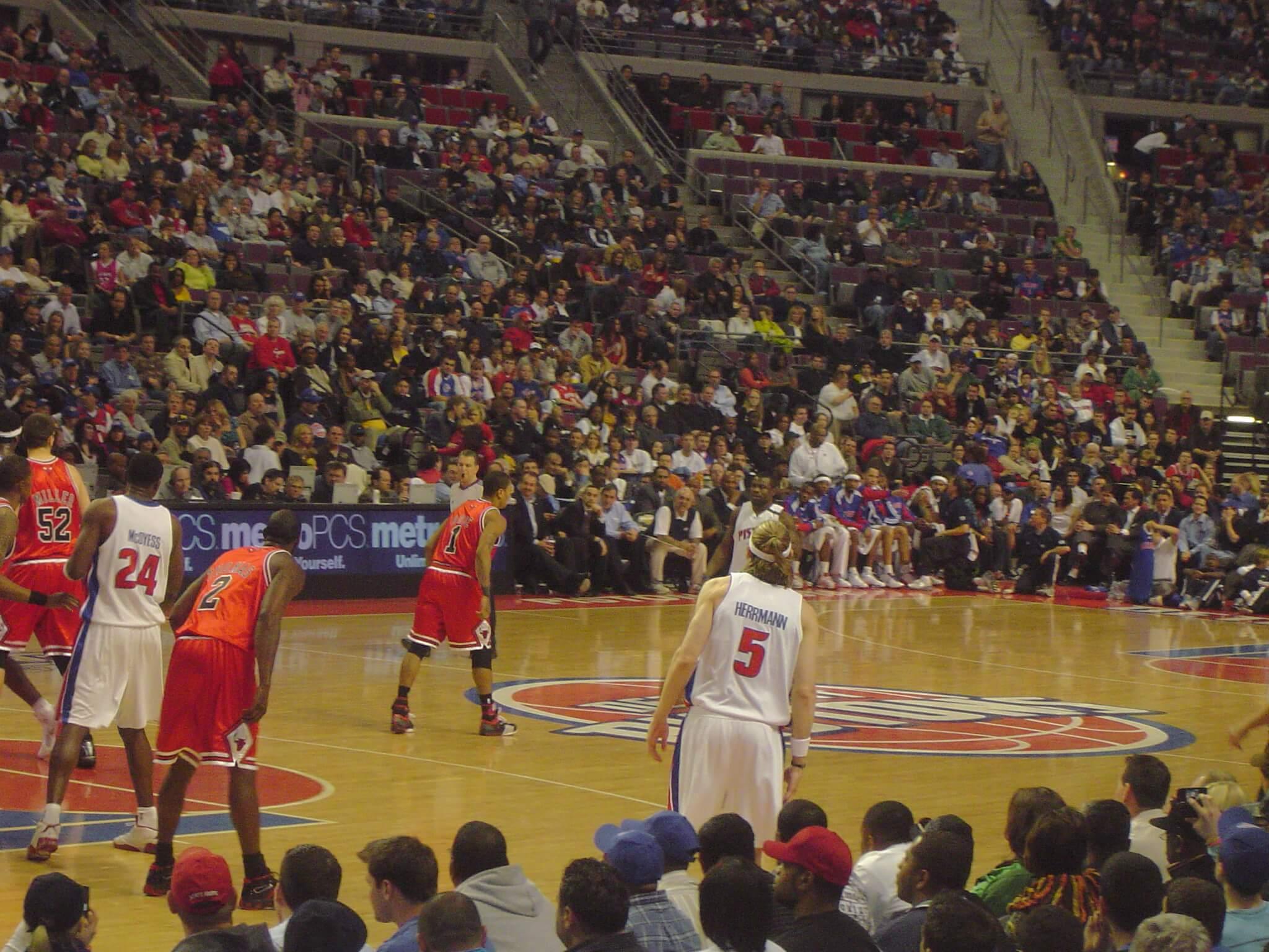 Detroit Pistons vs Chicago Bulls NBA basketball rivalry