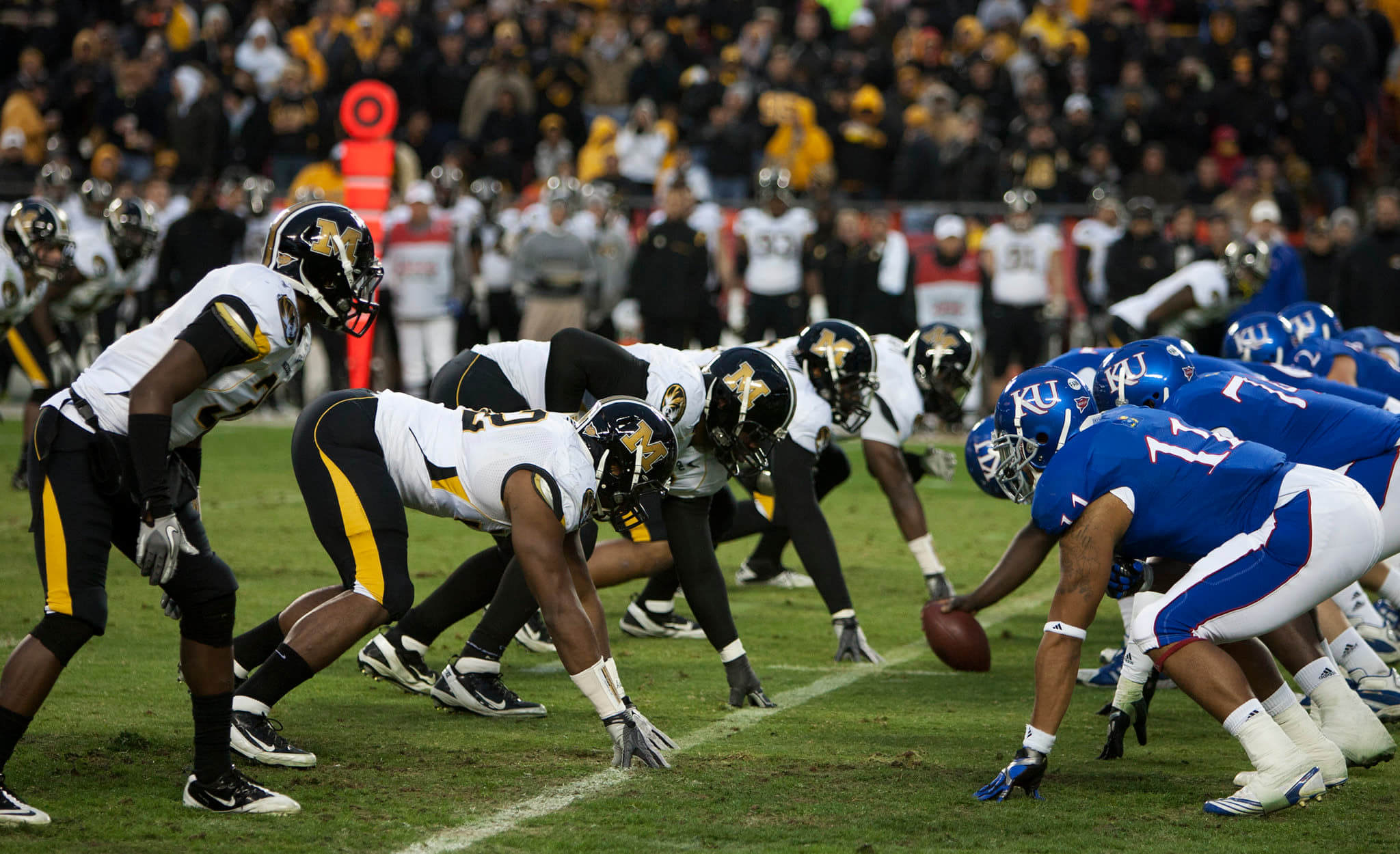 Missouri Tigers vs Kansas Jayhawks NCAAB football rivalry