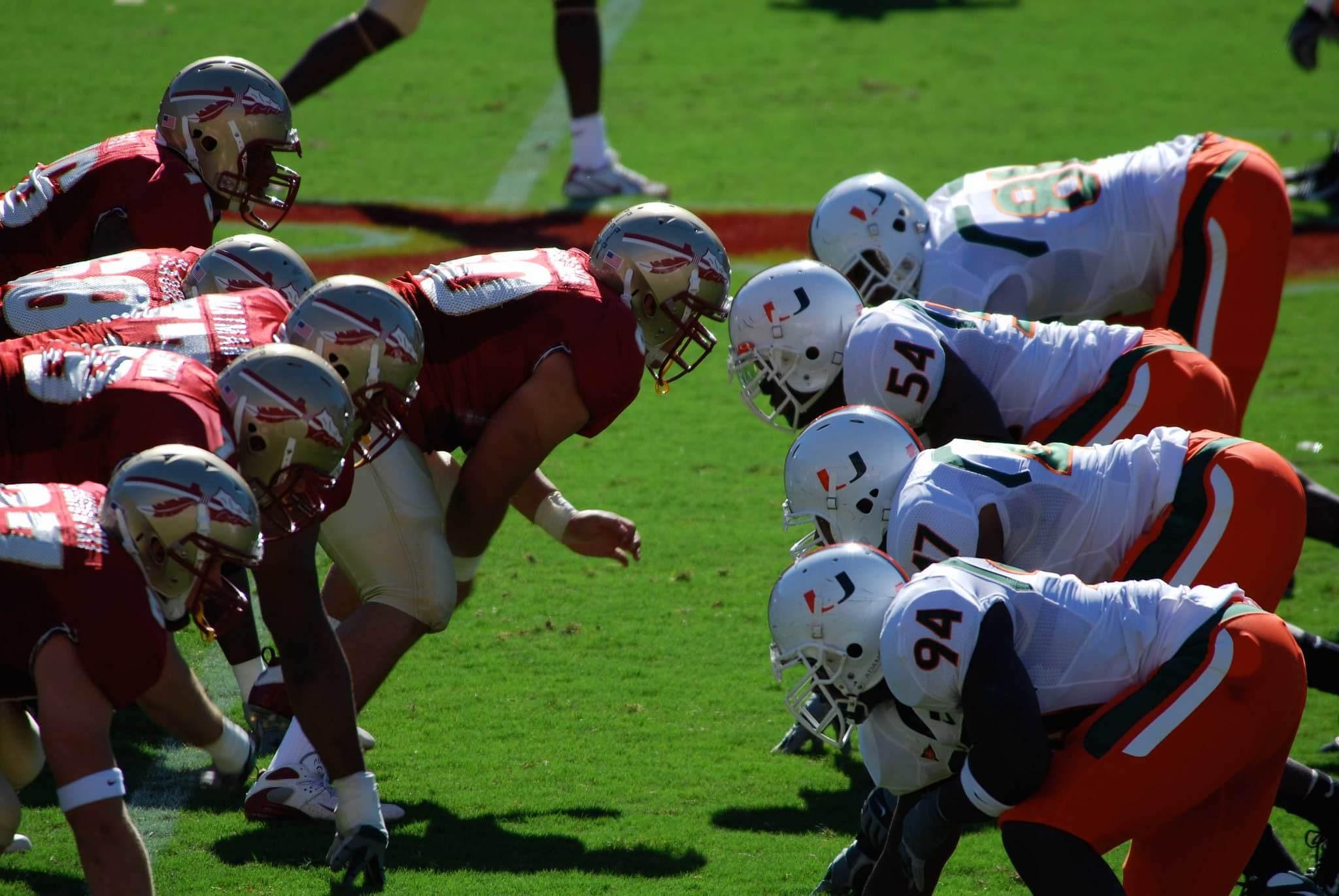 Florida State vs Miami Hurricane NCAAF football rivalry