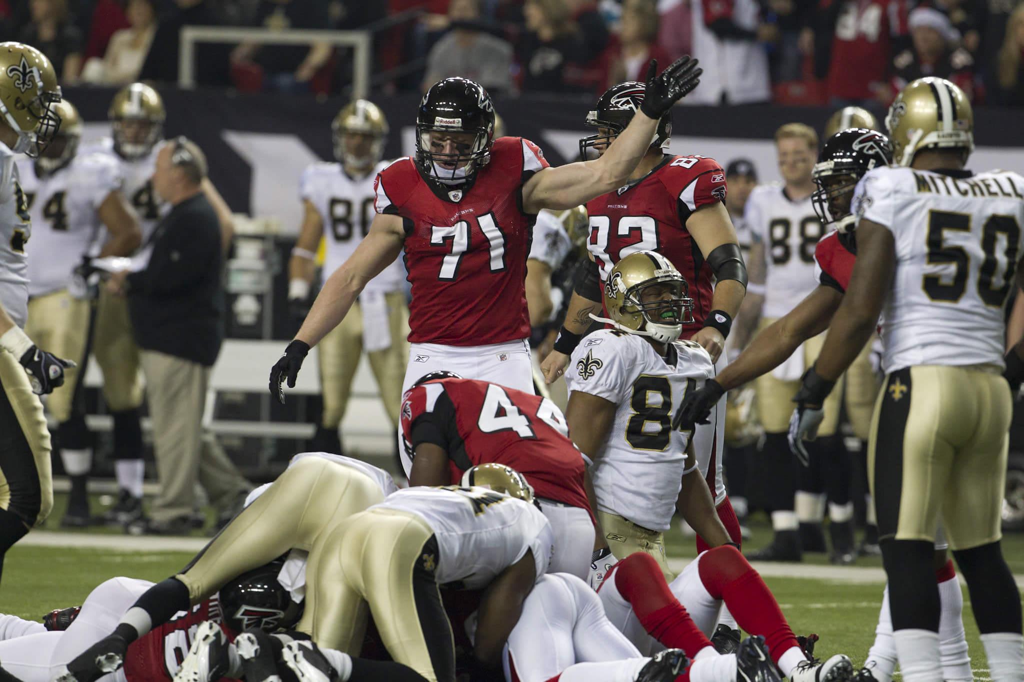 Atlanta Falcons vs New Orleans Saints NFL football rivalry