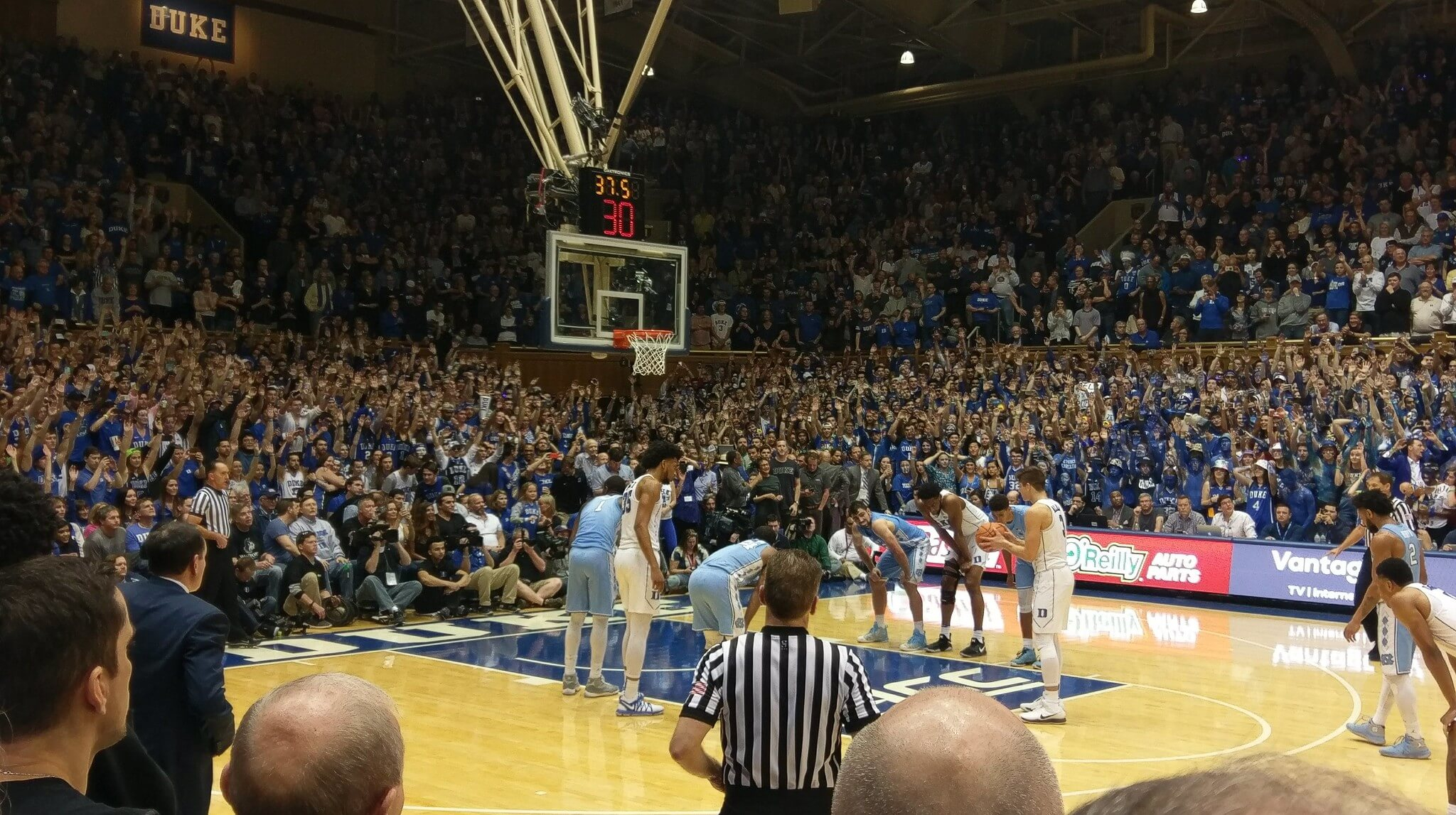 Duke vs North Carolina NCAAB basketball rivalry