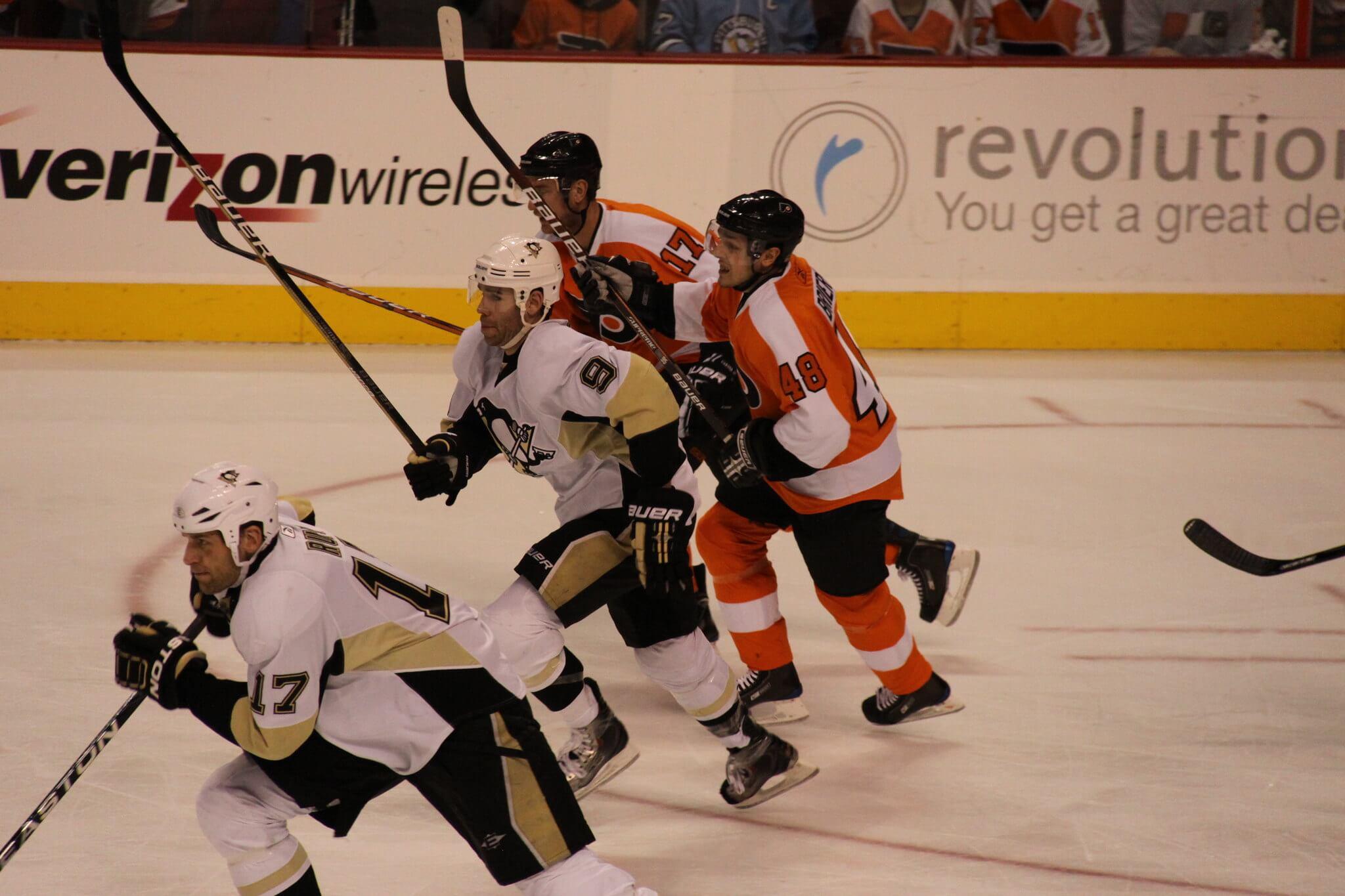 Pittsburgh Penguins vs Philadelphia Flyers NHL hockey rivalry
