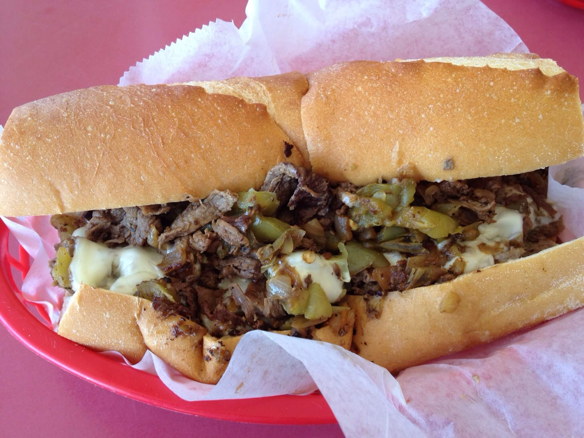 Philly Cheesesteaks tailgate dish