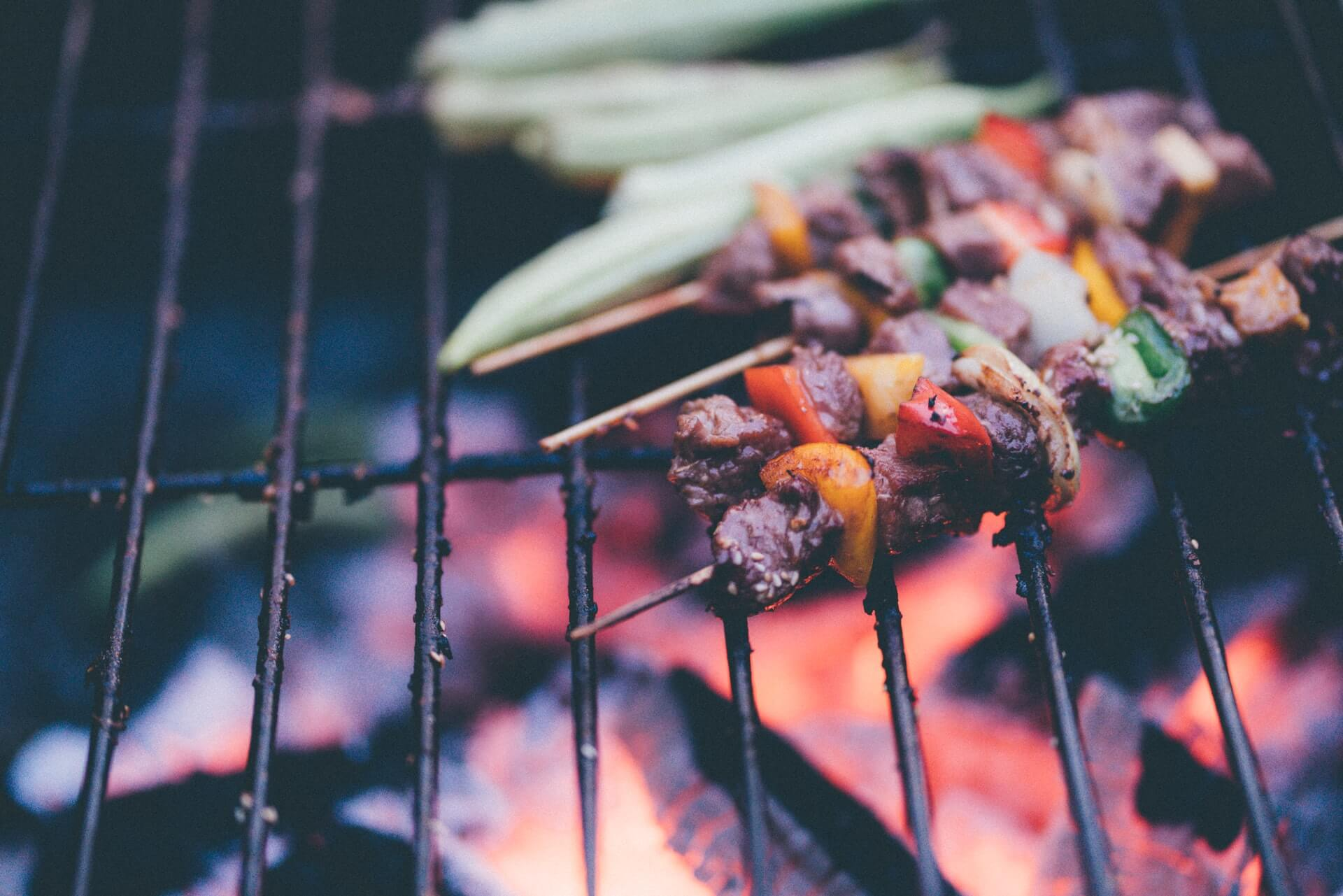 Kebabs tailgate dishes