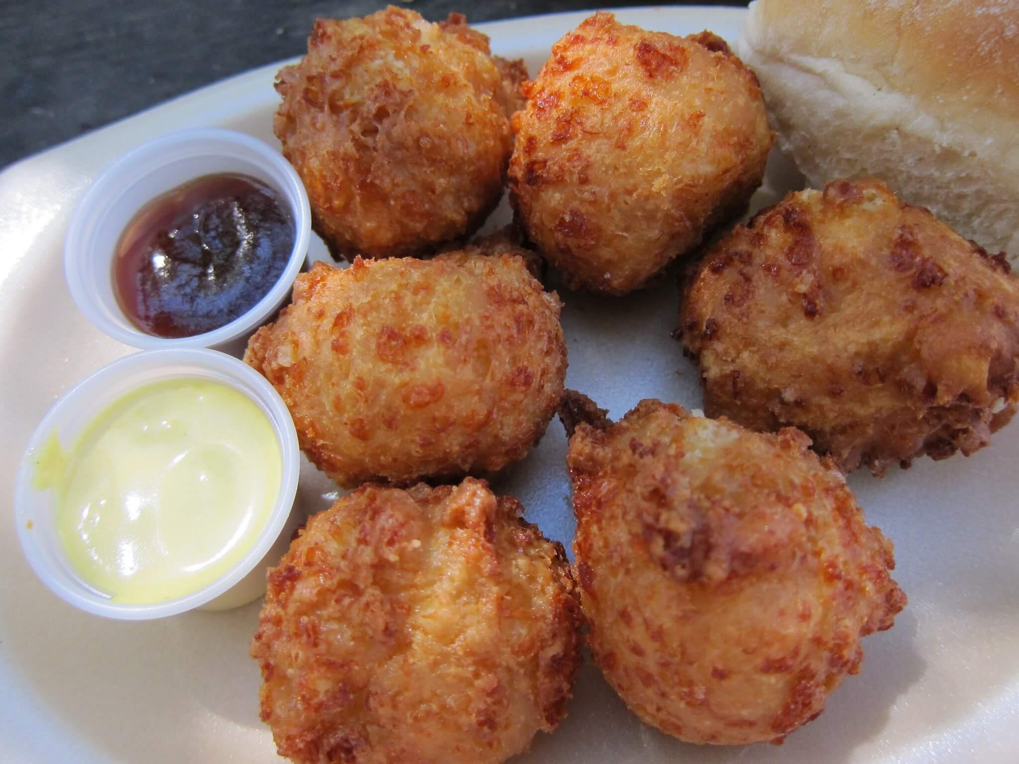 Cheeseballs tailgate dish