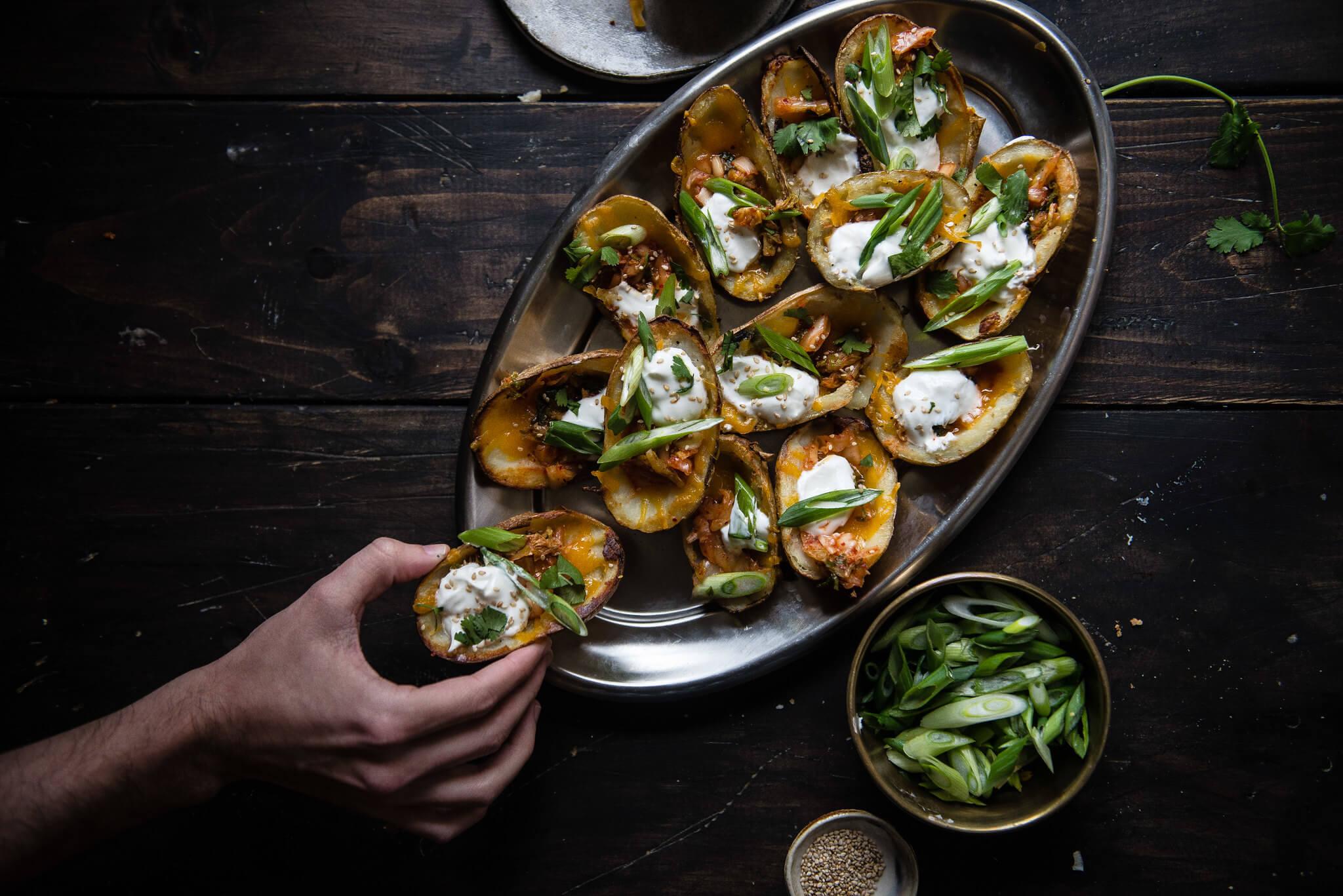 Potato Skins tailgate dish