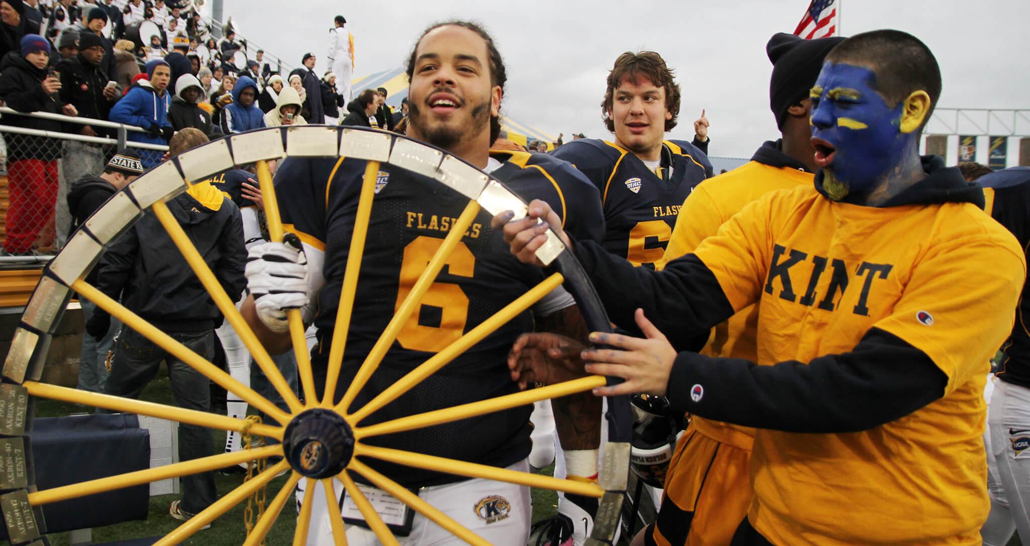 Kent State vs Akron Wagon Wheel Trophy rivalry