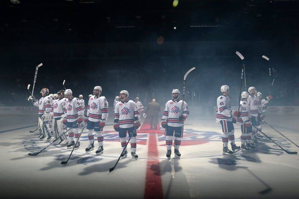 Rochester Americans win victory hockey