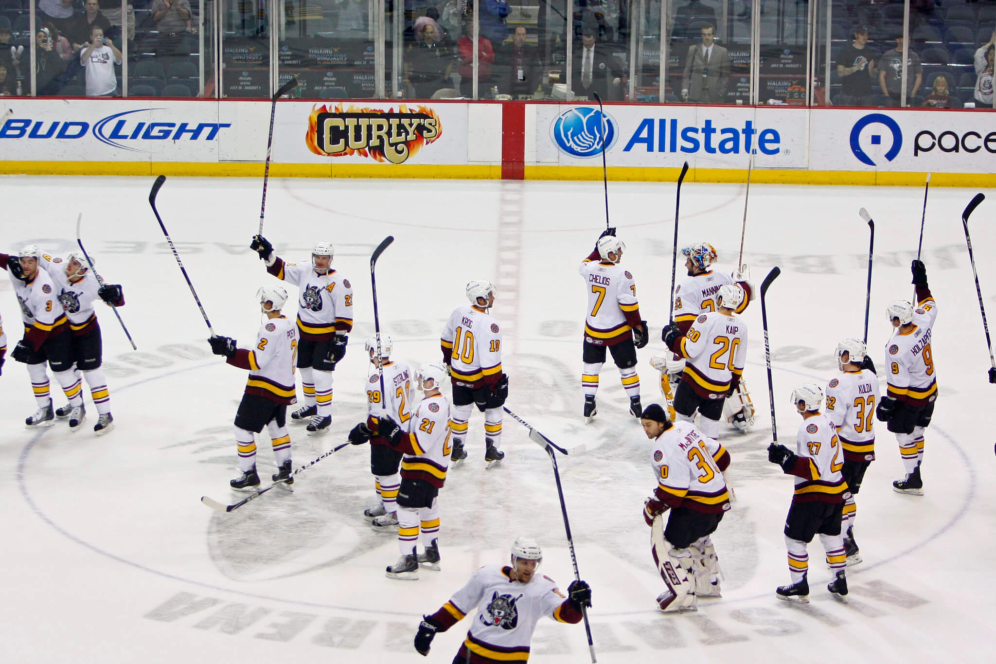 Chicago Wolves win victory hockey