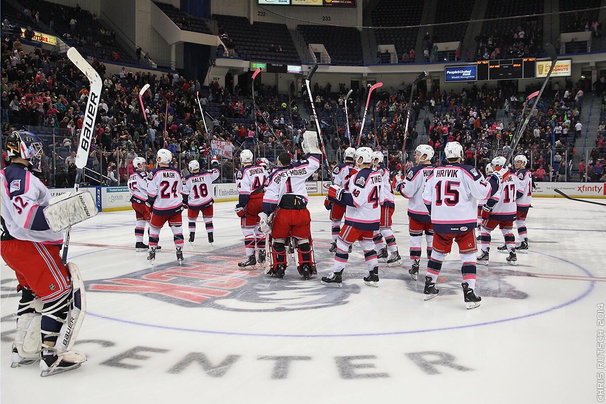 Hartford Wolf Pack win victory hockey