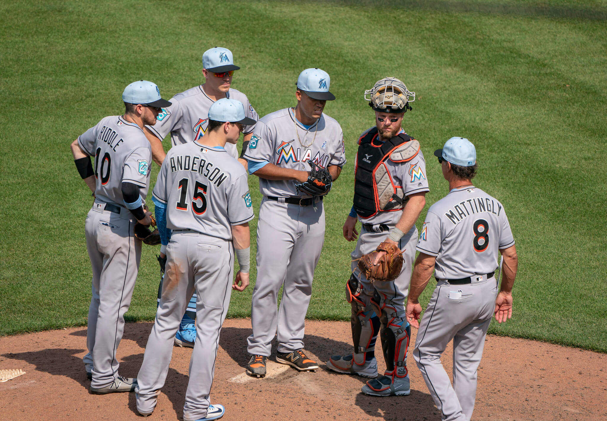 Marlins baseball players