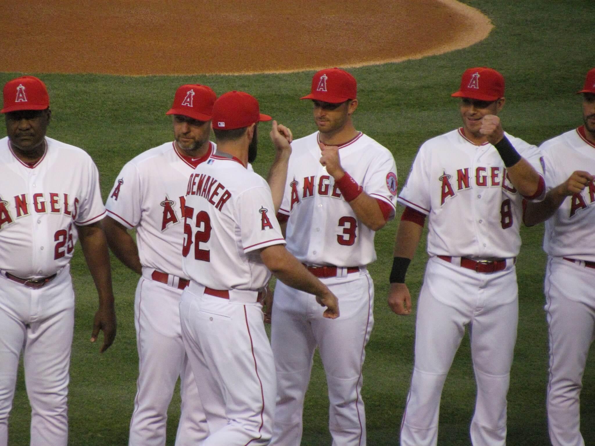 Angels baseball players