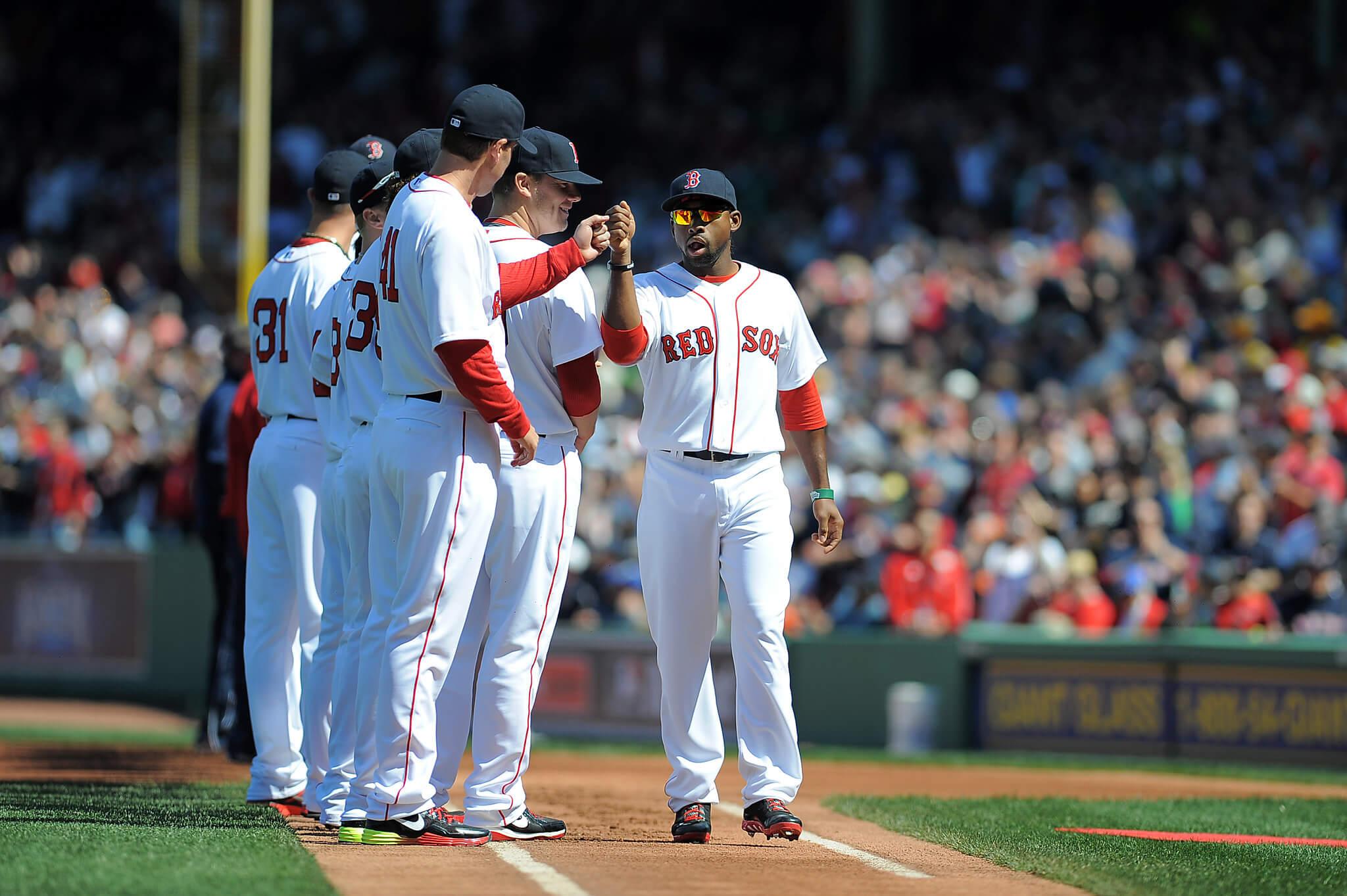 Boston Red Sox baseball game players