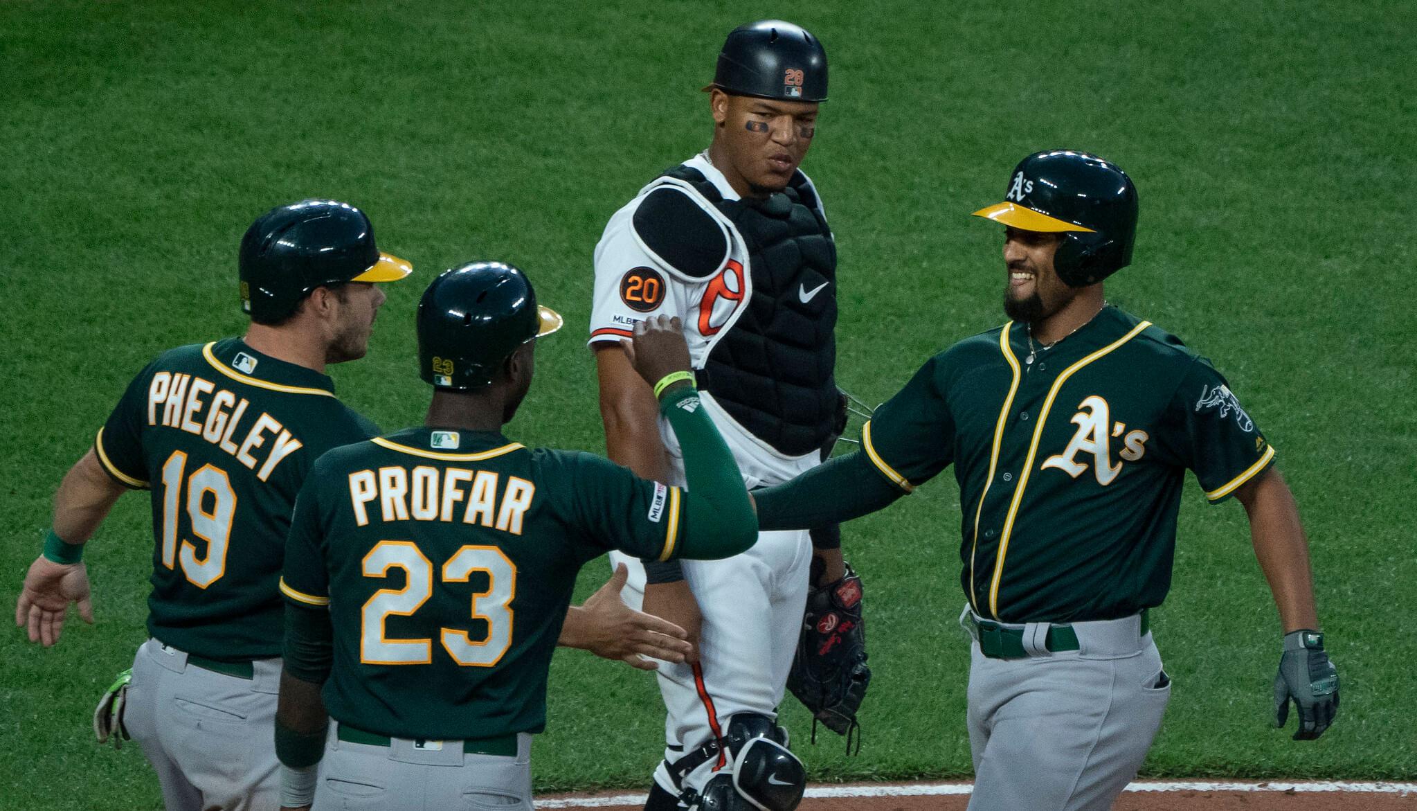 Oakland Athletics baseball players