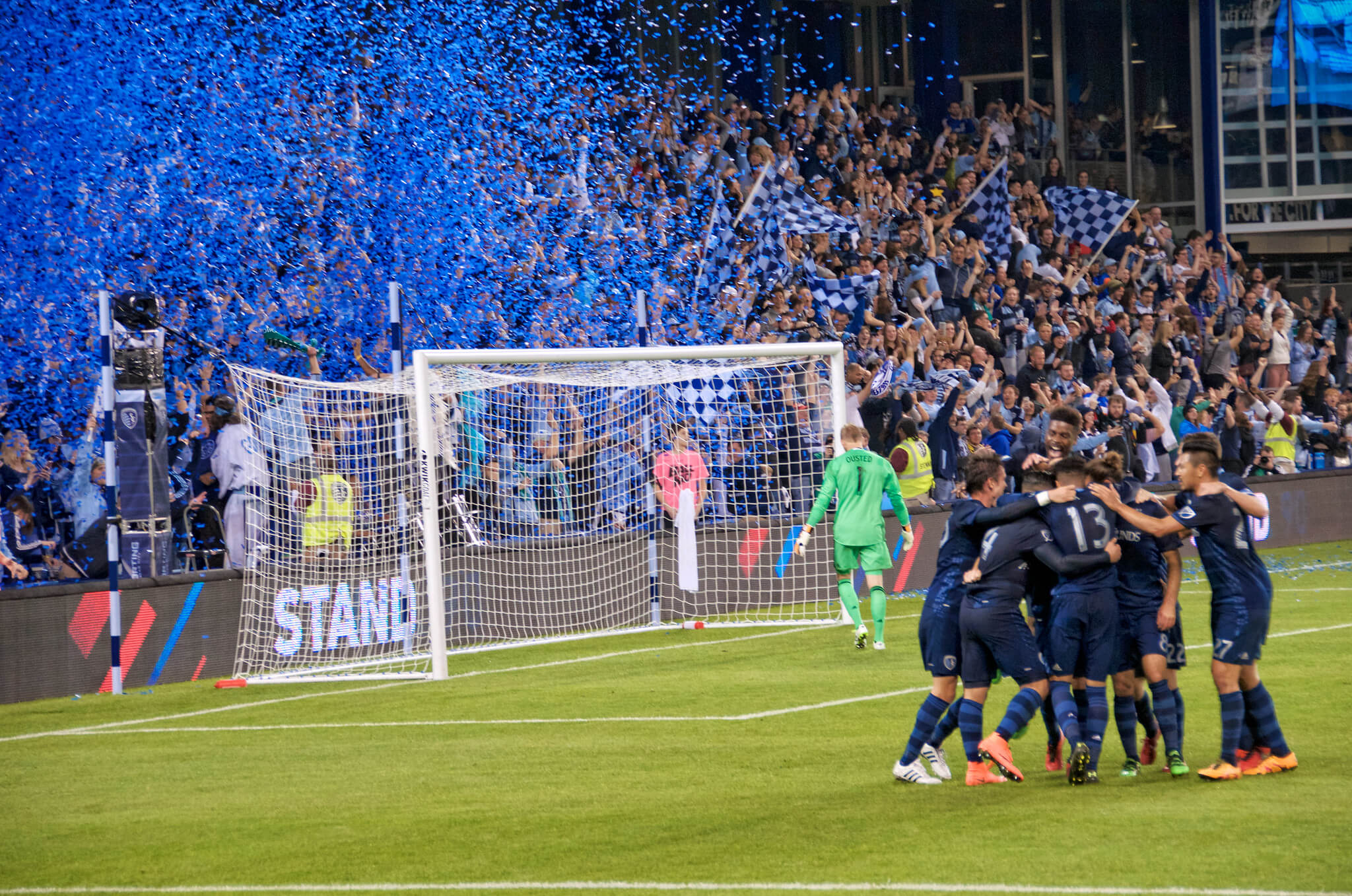 Sporting KC soccer game win victory