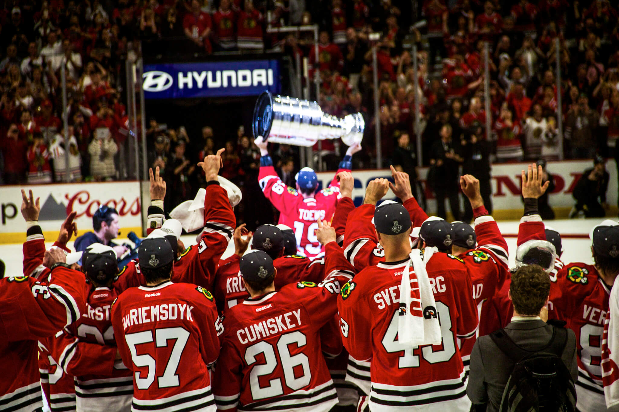Chicago Blackhawks hockey game win