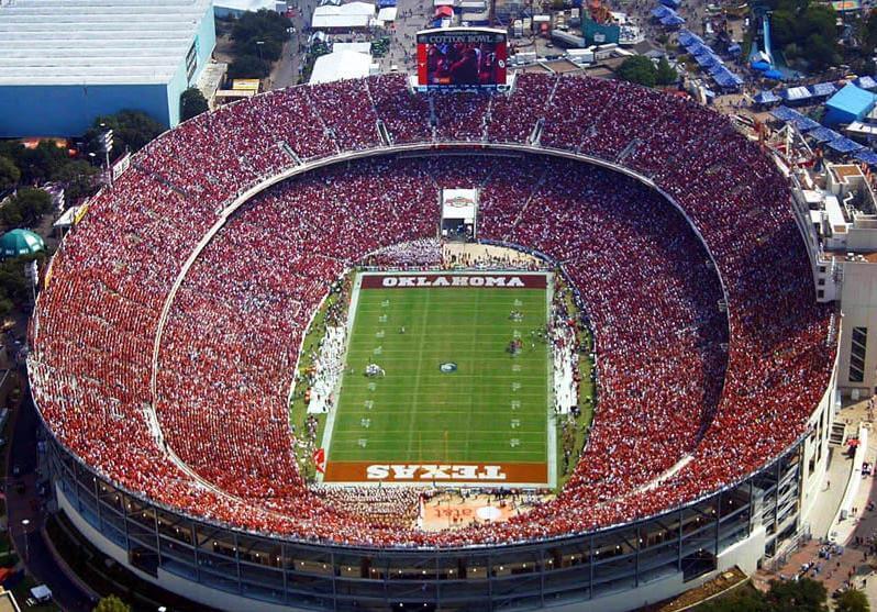 Cotton Bowl football stadium